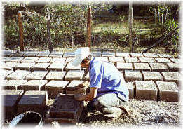 Making Adobe Bricks, Near La Esperanza, Honduras.